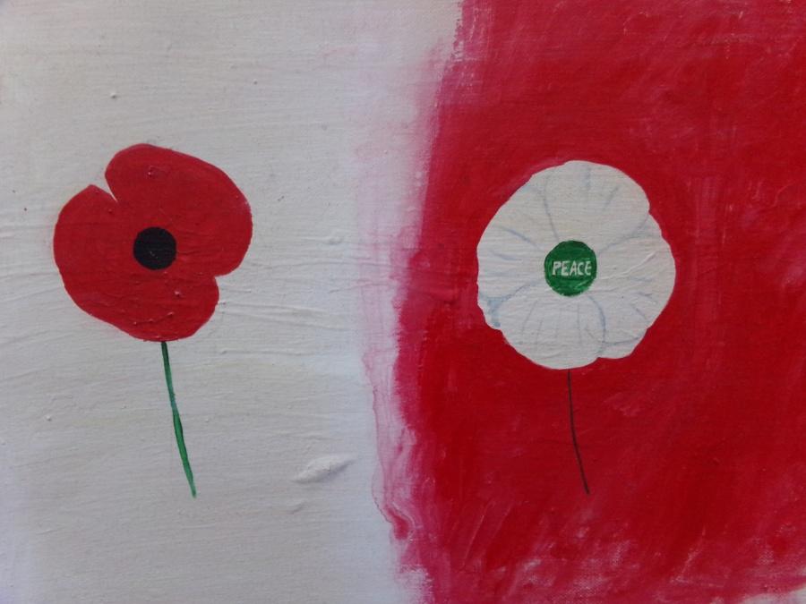 War or peace acrylic on canvas