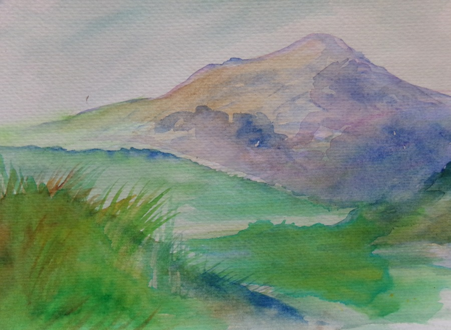 wild mountain watercolour on paper
