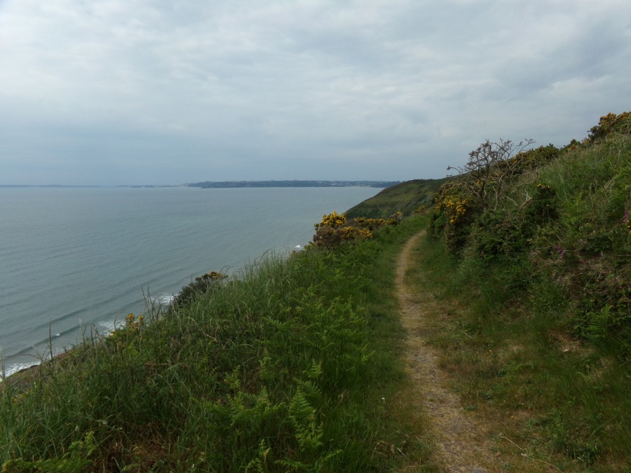 Amroth in the distance