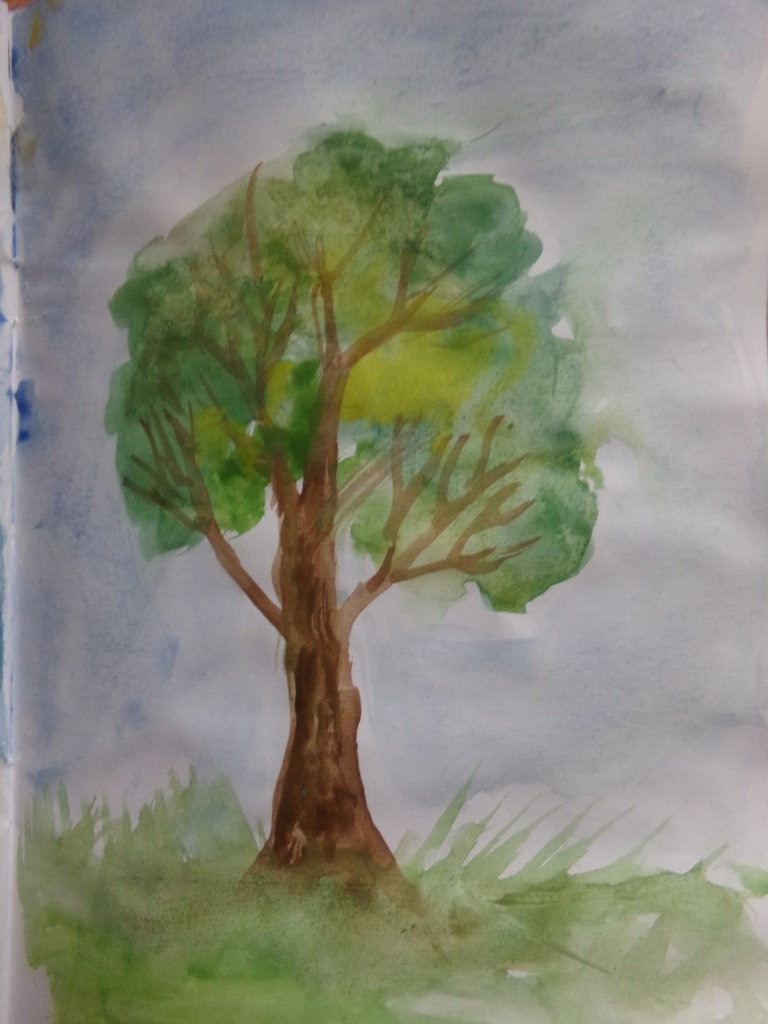 Summer tree sketch