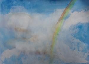 Rainbow through the clouds