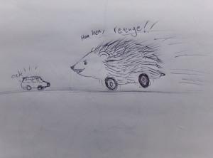 Hedgehog on wheels