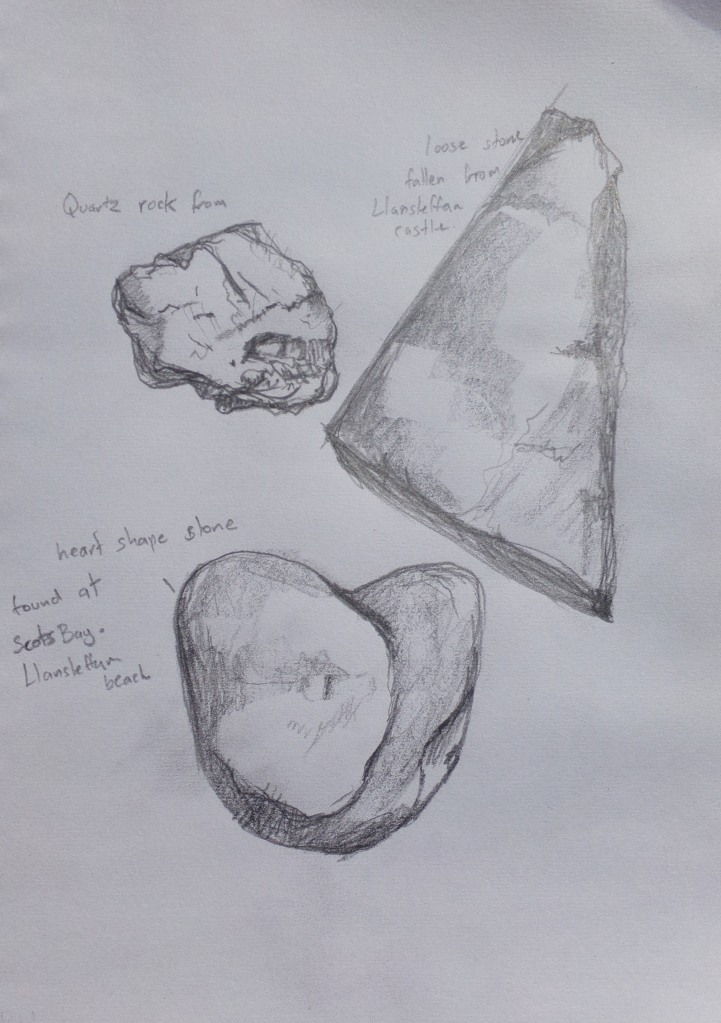 sketches of rocks