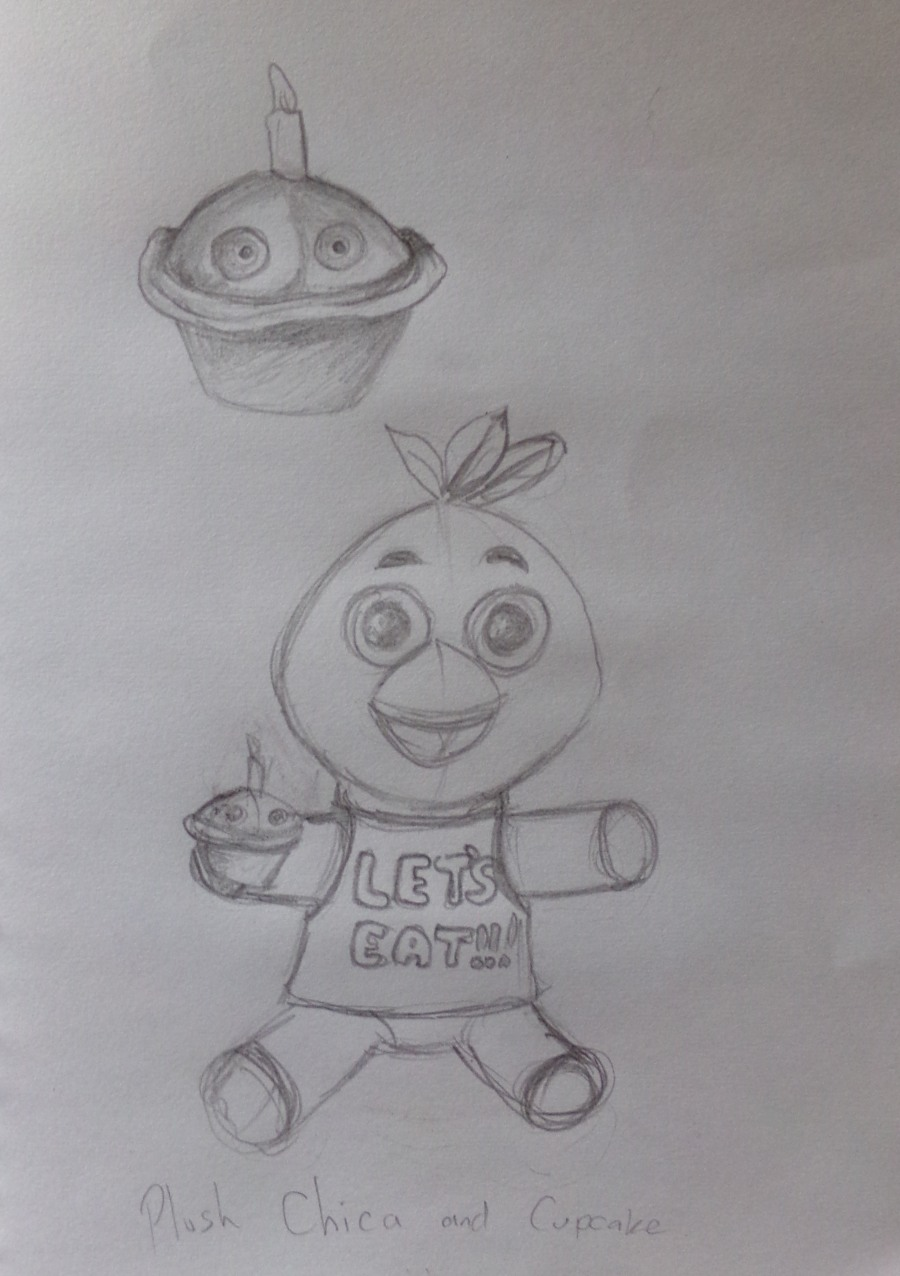 Plush toy Chica and Cupcake