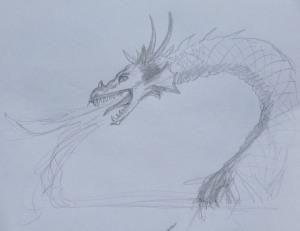 Dragon study sketch 109