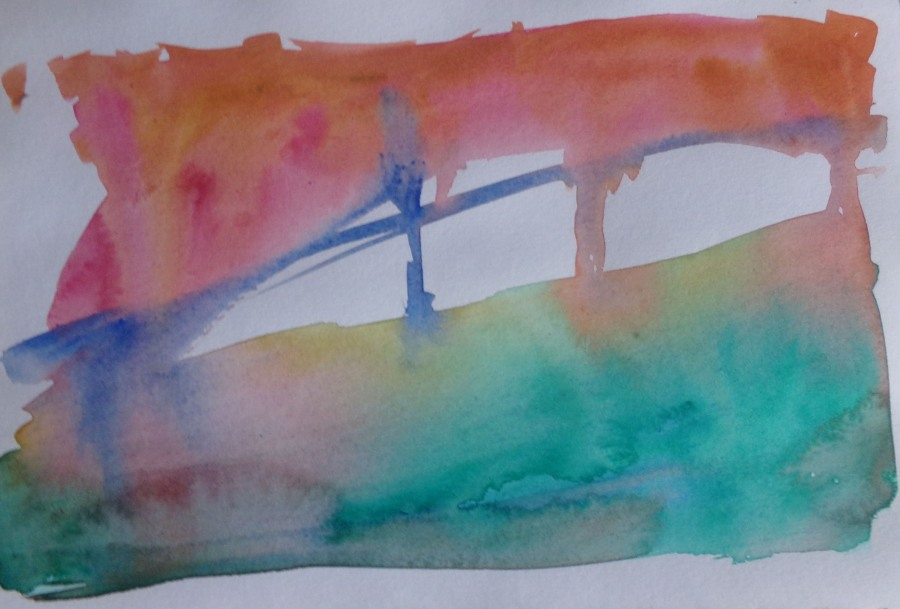 Abstract Landscape in watercolour