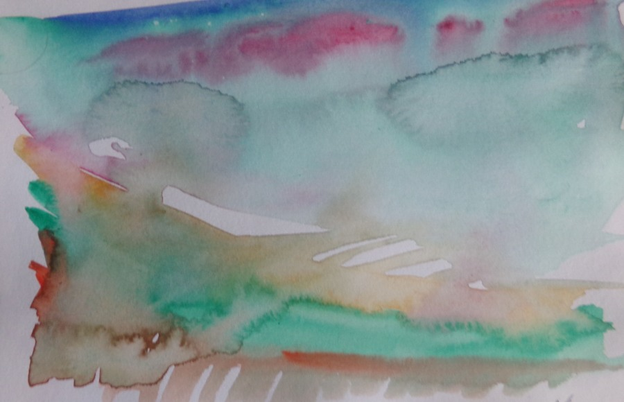 Abstract landscape watercolour no 149
