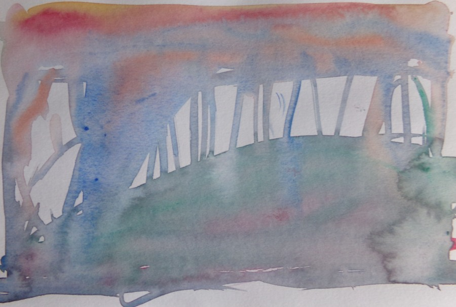 Abstract Landscape, watercolour, 150