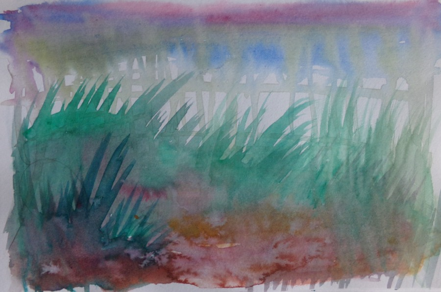 Abstract water colour Sketch 147