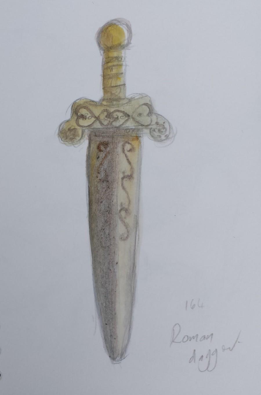 sketch 164 Roman gladius