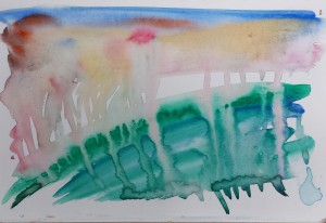 Abstract watercolour landscape 153