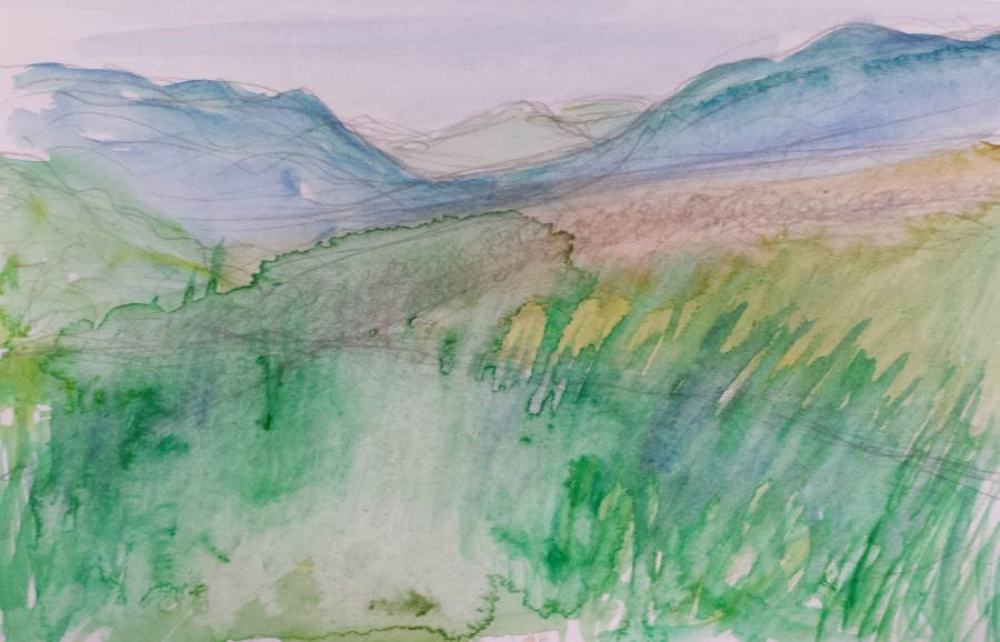 Landscape watercolour sketch 178