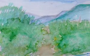Sketch 177 quick sketch of the vines around saarburg