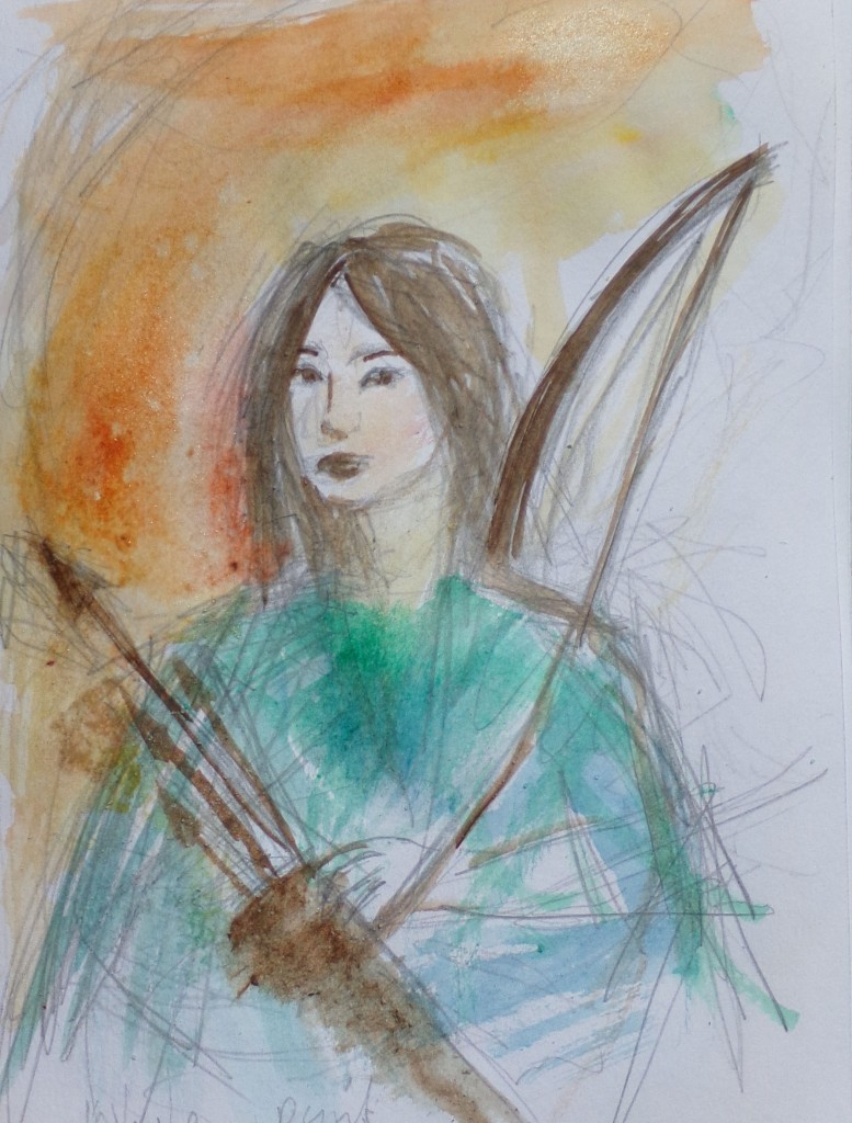 Guinevere disguised as cupid