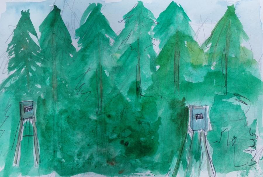 Sketch 197 hunting huts