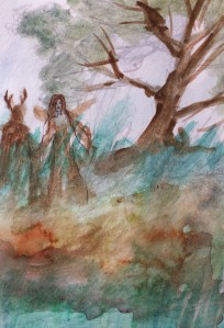 Sketch180 Spirits of the forest