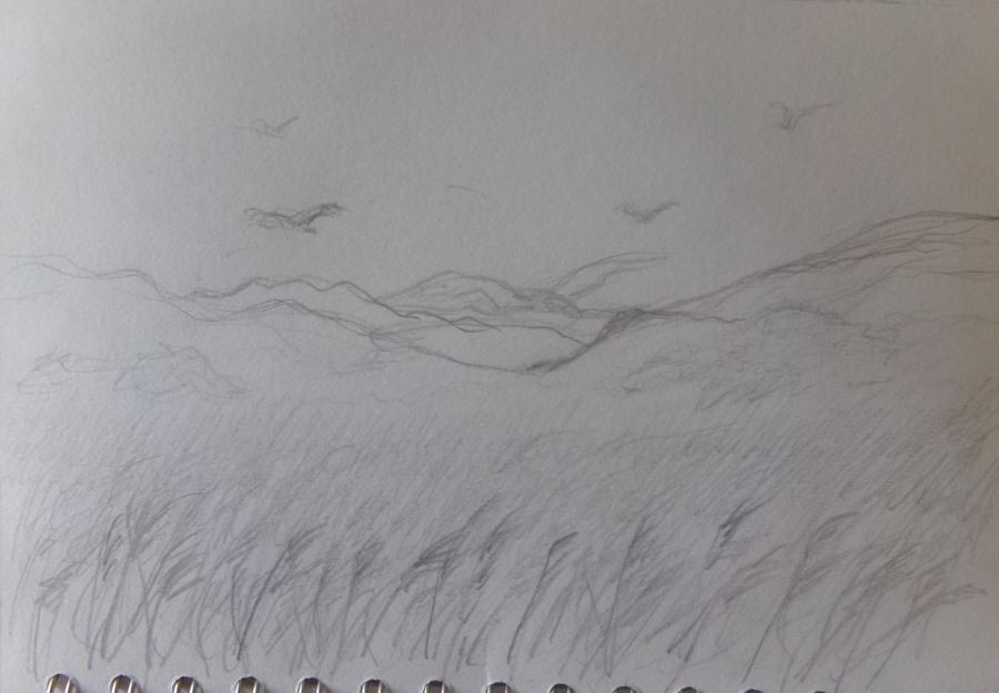 Sketch day 184 Memories of Saarland