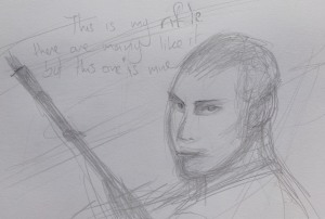 Sketch 196 This is my rifle