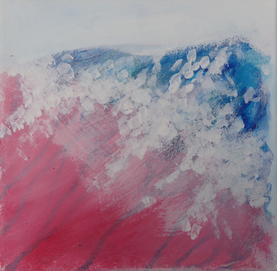 Pink and blue salt water