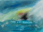 Someone to ride the storm with. Abstract landscape by AnneMarie Foley. acrylic on canvas 30cm x 40cm