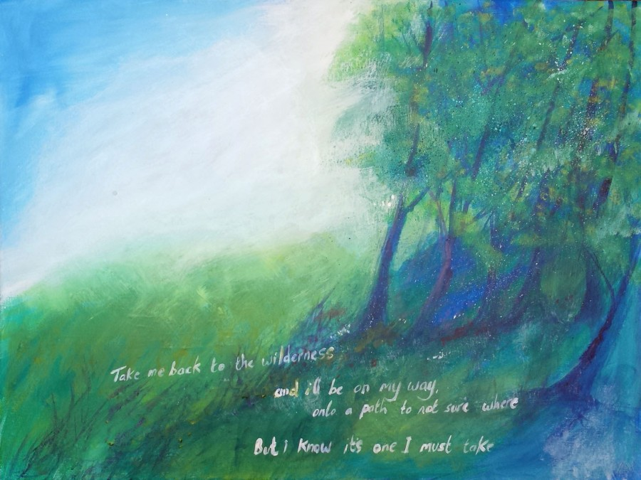 Take me to the wilderness, painting by AnneMarie Foley