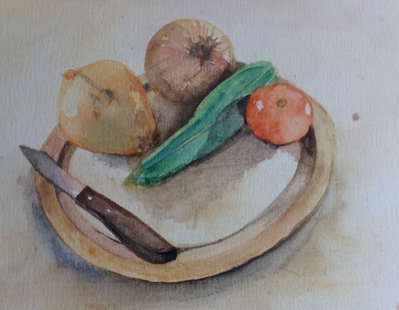 Still life watercolour by AnneMarie Foley