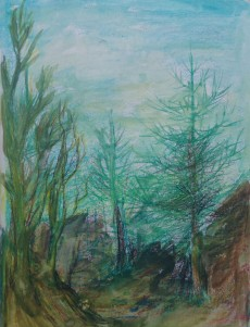 Wild trees. watercolour by AnneMarie Foley