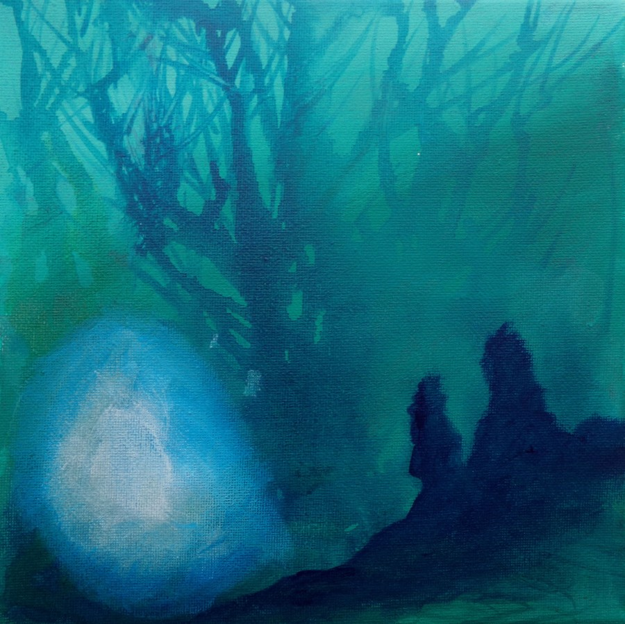 Will-o-the wisp, painting by AnneMarie Foley