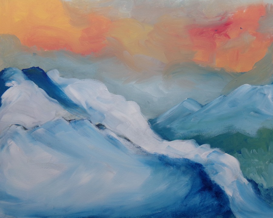 'A small glimpse of heaven' acrylic painting by AnneMarie Foley