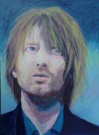 Thom Yorke portrait in 2009, painted by AnneMarie Foley