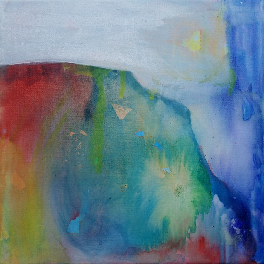 in rainbows, acrylic painting by AnneMarie Foley