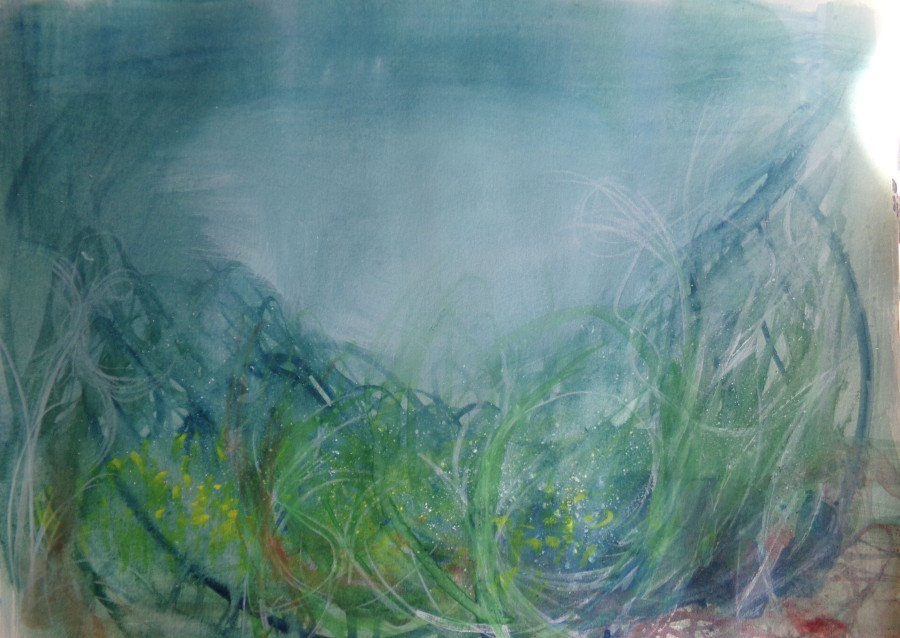 Spring, watercolour by AnneMarie Foley