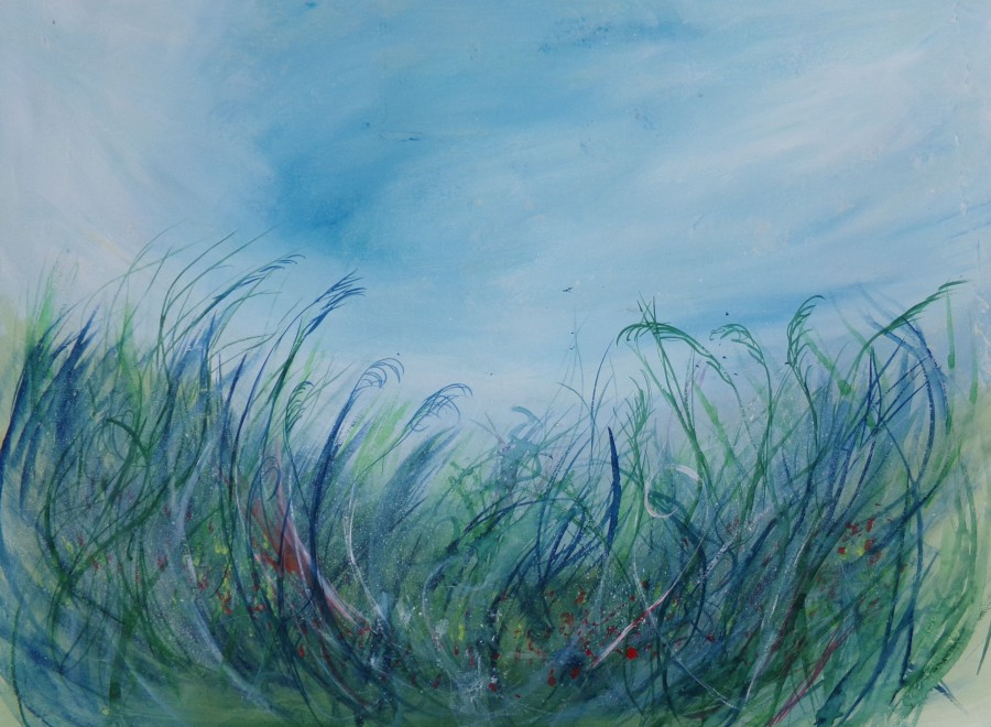 Wild meadow, acrylic painting by AnneMarie Foley