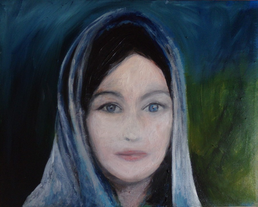 'Arwen' oil on canvas 40cm x 30cm painting by AnneMarie Foley