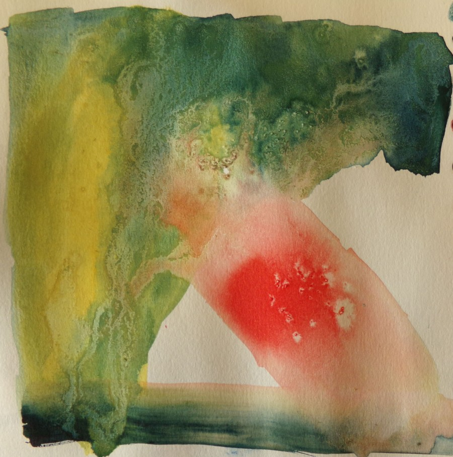 Abstract red /green by AnneMarie Foley