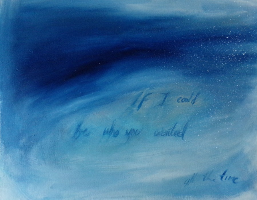 If I could be who you wanted, painting by AnneMarie /foley
