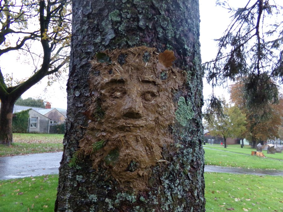 Green Man made from Cob