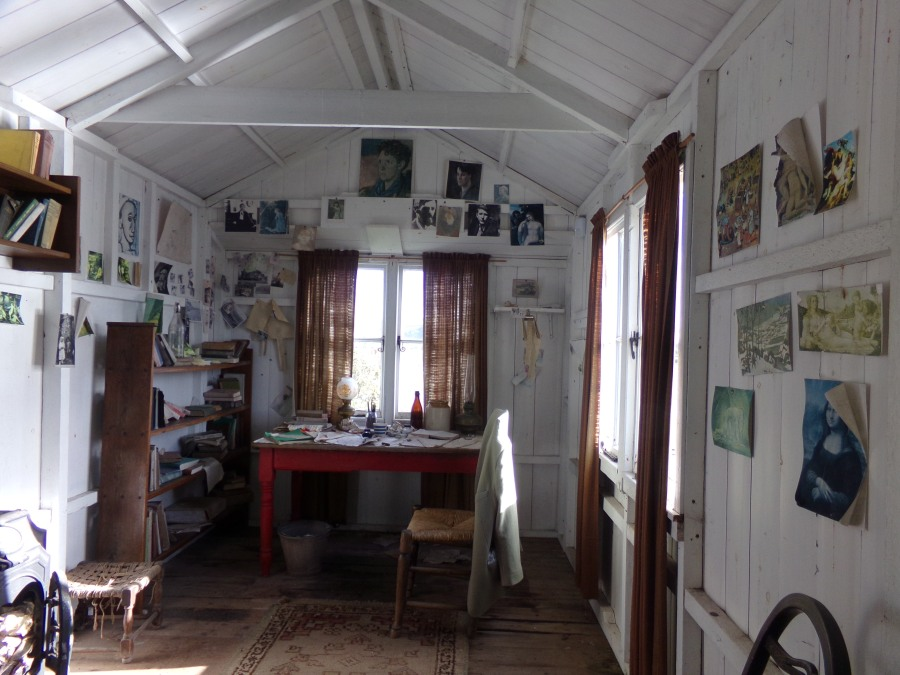 Dylan Thomas`s shed at Laugharne, photograph by AnneMarie Foley