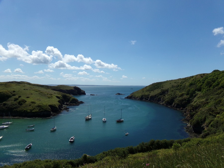 Solva on the coastal path in Pembrokeshire, Wales photograph by AnneMarie Foley
